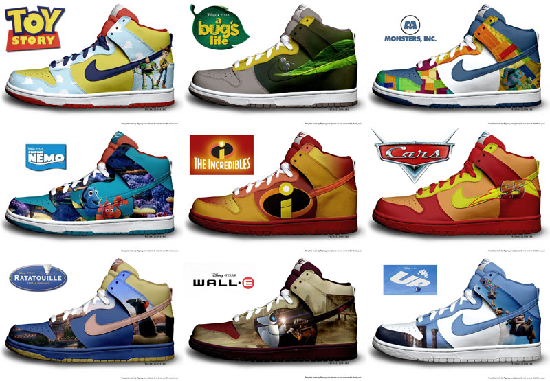 Pixar Themed Nike Shoes SR Geek Picks: Walter Whites Facebook Lookback, LEGO Batman Fan Film & More
