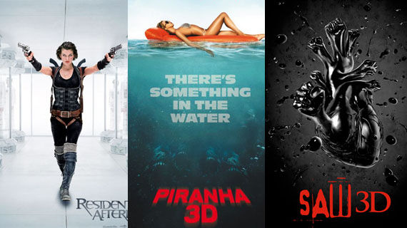 Poster Friday Resident Evil 4 Piranha 3D Saw 3D and more Poster Friday: Resident Evil 4, Piranha 3D, Saw 3D & More!