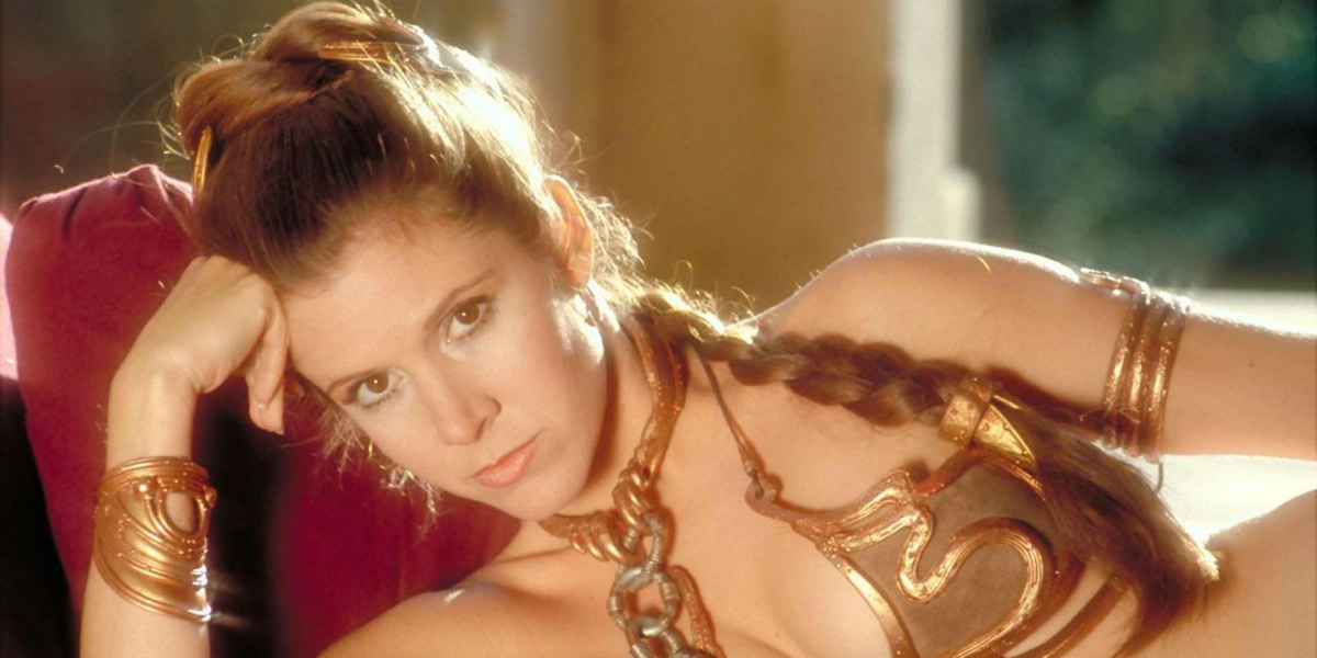 Pity, carrie fisher princess leia slave for