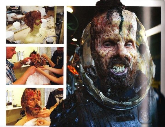 Prometheus Fifield Actual Makeup 570x440 Prometheus Concept Art Reveals Alternate Creature Design