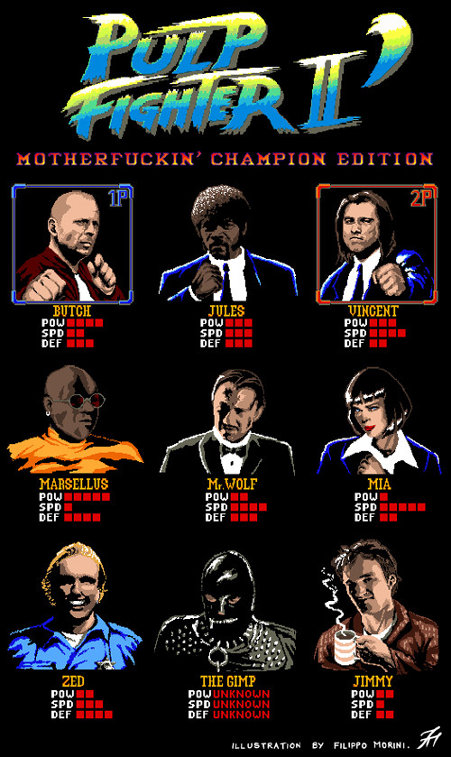 Pulp Fiction Street Fighter Mashup
