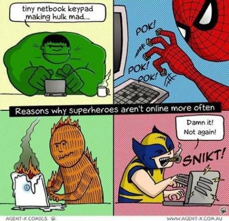 Reasons Why Superheroes Arent Online More Often Reasons Why Superheroes Arent Online More Often