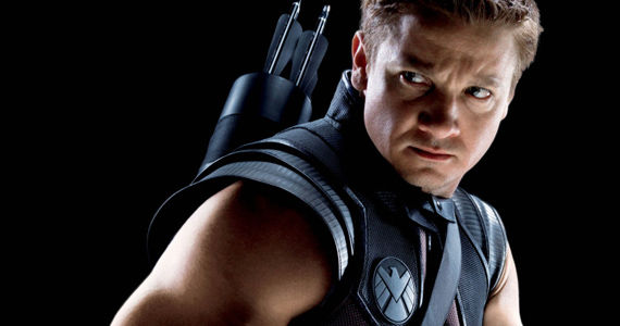 Renner Hawkeye Costume SHIELD Logo Jeremy Renner Hoping To Explore Hawkeye More in The Avengers 2