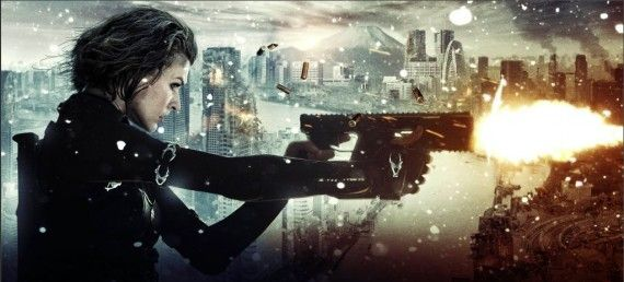 Resident Evil Retribution Alice Banner 570x258 Resident Evil: Retribution Trailer is A Big Sony Advertisement