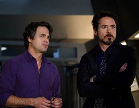 Robert Downey Jr and Mark Ruffalo in The Avengers