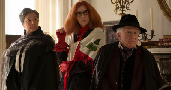 Robin Bartlett Francis Conroy and Leslie Jordan in AHS Coven Fearful Pranks Ensue American Horror Story: Coven: All Tricks and No Treats on Halloween