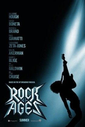 Rock of Ages Movie poster 280x414 Rock of Ages Trailer: Dont Stop Believin in Tom Cruise