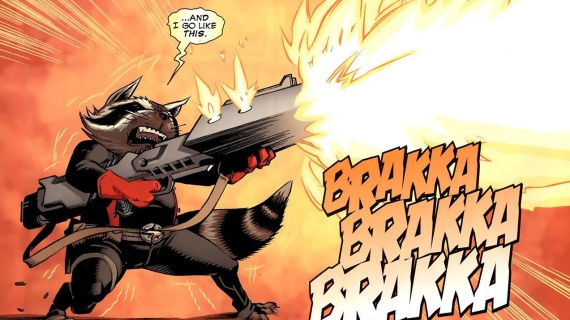Rocket Raccoon Guardians Comic Panel X Men: Days of Future Past Official Image & Guardians of the Galaxy Casting Update