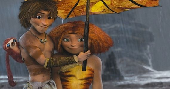 Ryan Reynolds and Emma Stone in The Croods The Croods Review