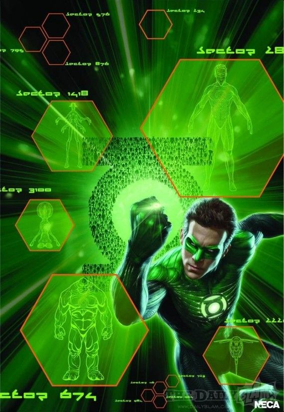 Ryan Reynolds as the Green Lantern movie poster 570x826 Ryan Reynolds as the Green Lantern movie poster