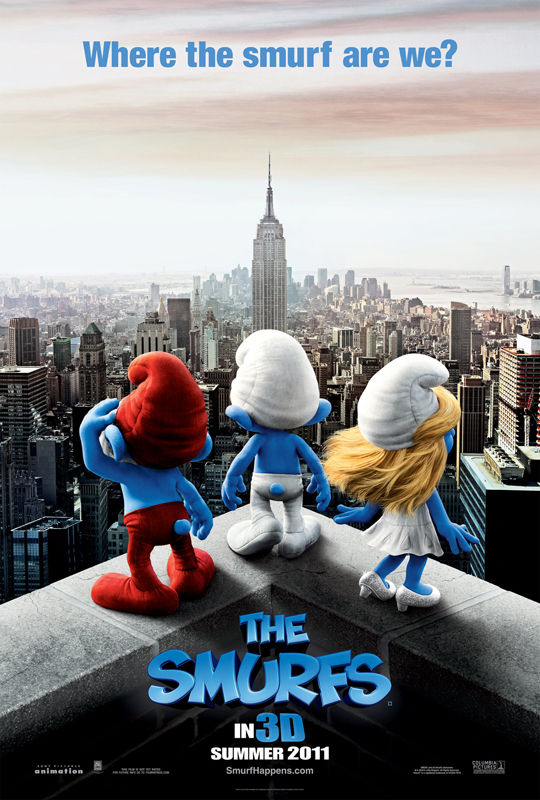 SMURFS movie poster The SMURFS movie poster