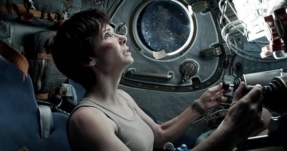 Sandra Bullocks Hairstyle in Gravity Gravity Reactions From Scientific Icons; Clooney Wrote Key Scene in Film