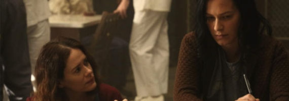 Sarah Paulson and Franka Potente in American Horror Story Asylum I am Anne Frank Pt 1 American Horror Story: Asylum Episode 4 Review – History Lessons