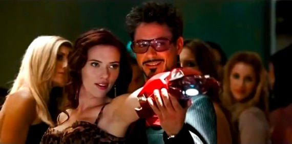 ScarJo and RDJ in Iron Man 2 Downey & Johansson Re Teaming for Gravity