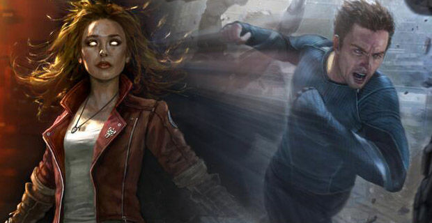 Scarlet Witch Quicksilver Avengers Costumes Revealed First Look At Quicksilver, Scarlet Witch & Hulkbuster Designs in The Avengers 2