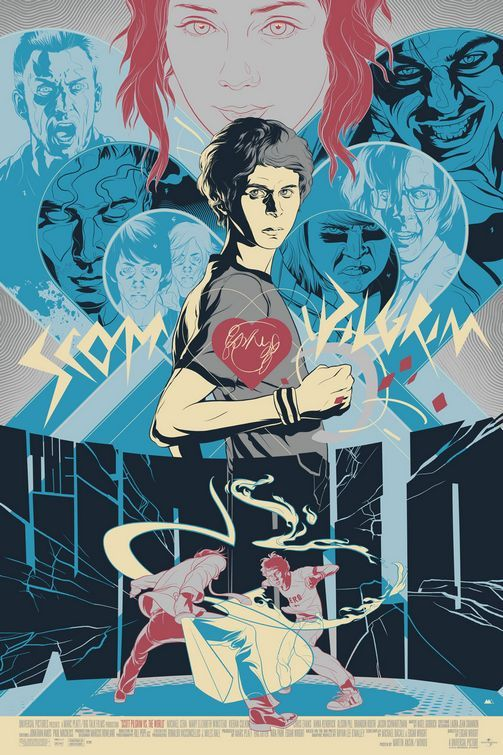 Scott Pilgrim vs the World art poster Poster Friday: Resident Evil 4, Piranha 3D, Saw 3D & More!