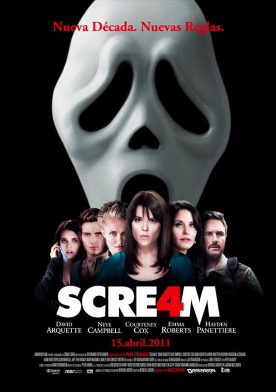 Scream 4 international movie poster Movie Poster Roundup: Fast Five, Thor, X Men: First Class & More