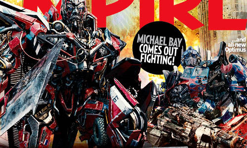 Sentinel Prime Optimus Prime in Empire Transformers 3 Empire Cover With Sentinel Prime