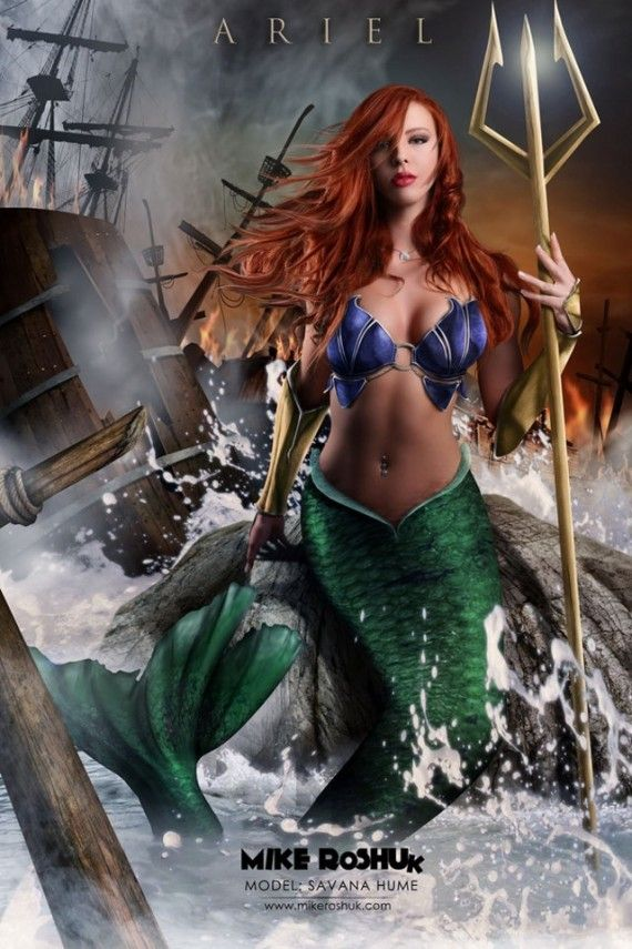 Sexy Ariel 570x855 SR Geek Picks: Pulp Pixar Heroes, Superman vs. Avengers, Disney Princess Cosplay & More