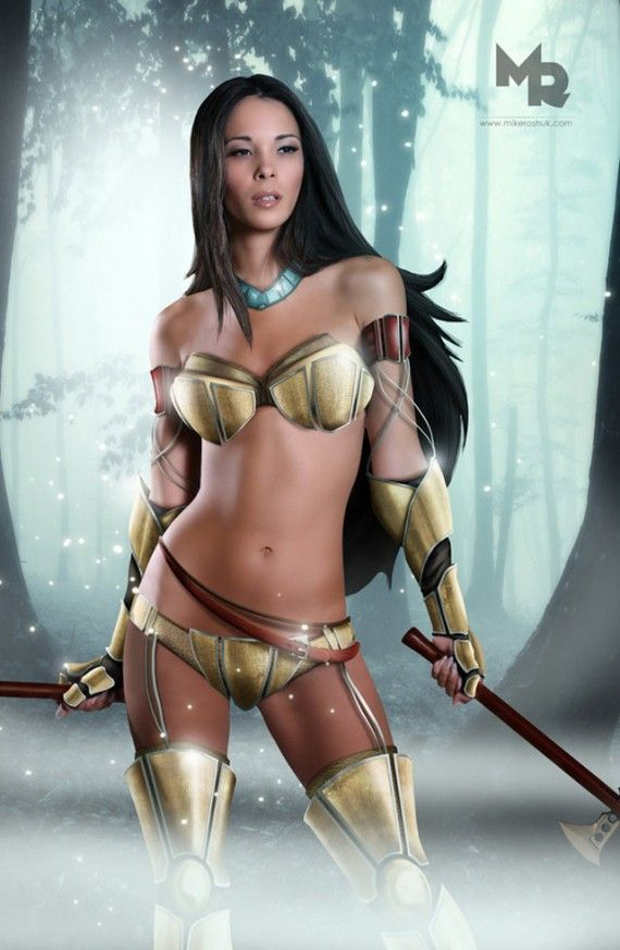 Sexy Pocahontas 570x873 SR Geek Picks: Pulp Pixar Heroes, Superman vs. Avengers, Disney Princess Cosplay & More