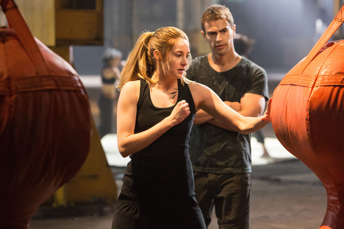 Shailene Woodley and Theo James in Divergent  Divergent Movie Image Gallery: Shailene Woodley Gets Tough