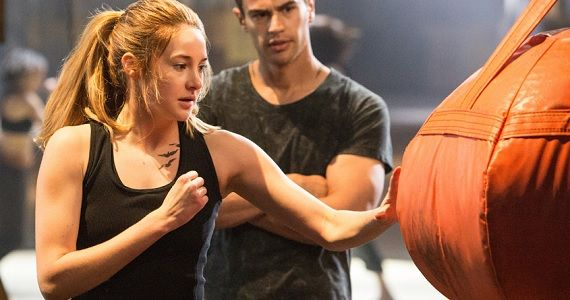 Shailene Woodley uses a punching bag in Divergent  Divergent Movie Image Gallery: Shailene Woodley Gets Tough