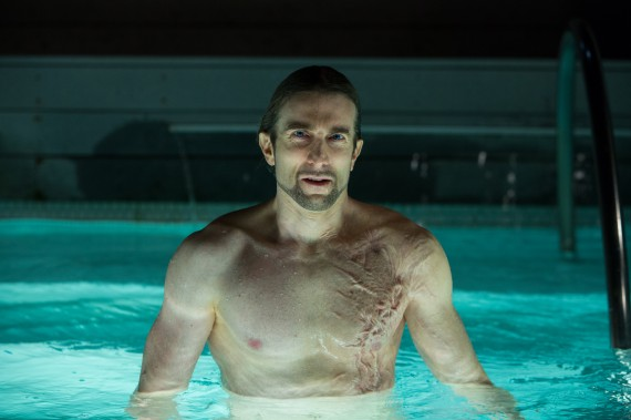 Sharlto Copley in OldBoy 570x379 New OldBoy Clip and Images, Writer & Cast Defend Spike Lees Remake