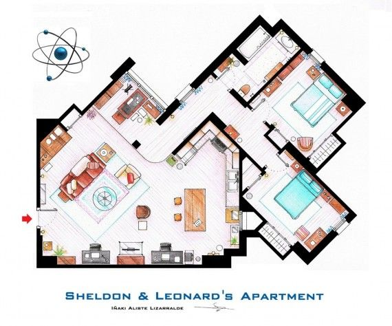 Sheldon Leonards Apartment 570x474 SR Geek Picks: NPHs 2013 Tony Awards Opener, Pink Floyd Avengers, TV/Movie Outtakes & More