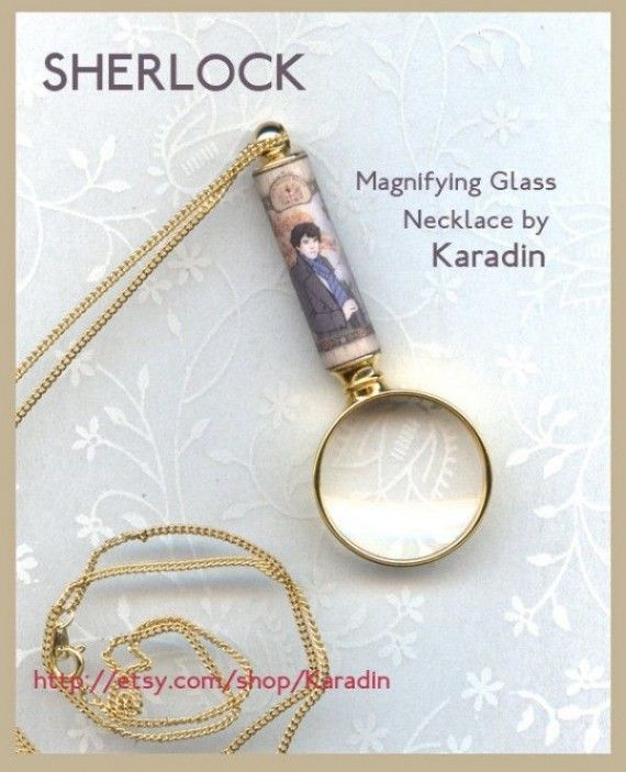 Sherlock Magnifying Glass Necklace 570x703 SR Geek Picks: Man of Steel & The Incredibles Trailer, Every Tarantino Pop Culture Reference, The Perfect Bond, & More!