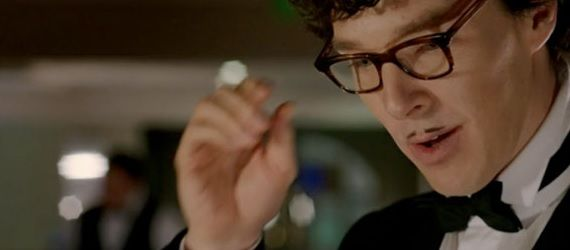 Sherlock dressed as French waiter Sherlock Season 3 Premiere: The Empty Hearse Review