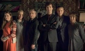 Sherlock season 3 Full cast 280x170 Sherlock Season 3 Image Gallery Hints at Romance & Conflict