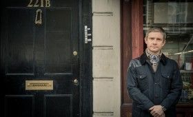 Sherlock season 3 Martin Freeman 280x170 Sherlock Season 3 Image Gallery Hints at Romance & Conflict