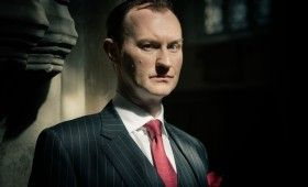 Sherlock season 3 Mycroft Holmes 280x170 Sherlock Season 3 Image Gallery Hints at Romance & Conflict