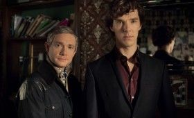 Sherlock season 3 Sherlock and John 280x170 Sherlock Season 3 Image Gallery Hints at Romance & Conflict