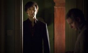 Sherlock season 3 Sherlock in doorway 280x170 Sherlock Season 3 Image Gallery Hints at Romance & Conflict