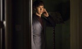 Sherlock season 3 Sherlock on phone 280x170 Sherlock Season 3 Image Gallery Hints at Romance & Conflict