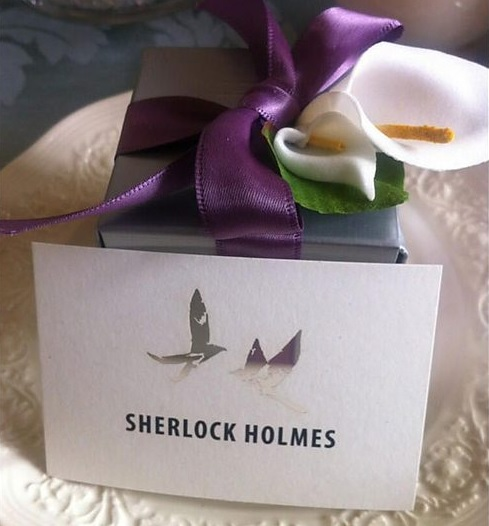 Sherlock season 3 set photo Sherlock wedding placecard Sherlock season 3 set photo   Sherlock wedding placecard
