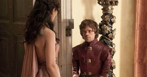 Sibel Kekilli and Peter Dinklage in Game of Thrones Second Sons