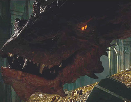 Smaug (Benedict Cumberbatch) in The Hobbit the Desolation of Smaug