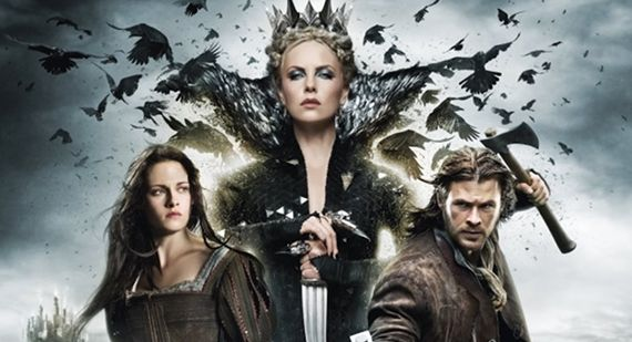 Snow White Kristen Stewart Evil Queen Charlize Theron Huntsman Chris Hemsworth Snow White and the Huntsman Behind the Scenes Footage & Clips
