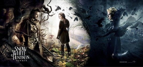 Snow White and the Huntsman Banner Poster 570x269 Fairytale Movie Round Up: 'Snow White' Banner, Bruce Campbell out of 'Oz,' & 'Mirror, Mirror' Rating