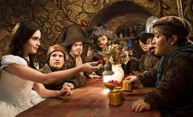 Snow White eats with the Seven Dwarfs 280x170 Snow White Images Tease A Stylized Fairy Tale Re Imagining
