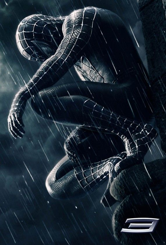 Spider Man 3 Dark Poster 570x838 Spider Man 3 Dark Poster