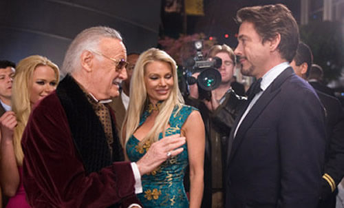 Stan Lee as Hugh Hefner in Iron Man Stan Lees Thor Cameo Revealed?