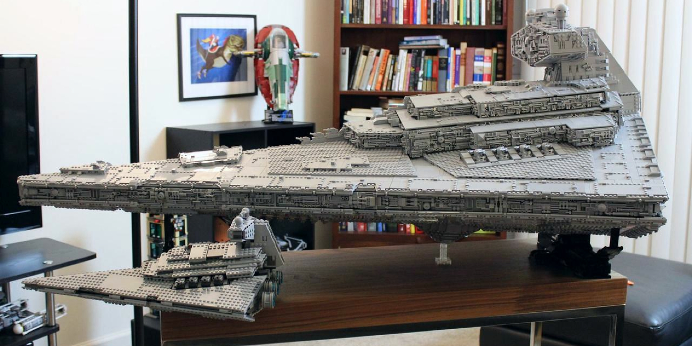 star wars custom lego star destroyer has three level interior. Black Bedroom Furniture Sets. Home Design Ideas