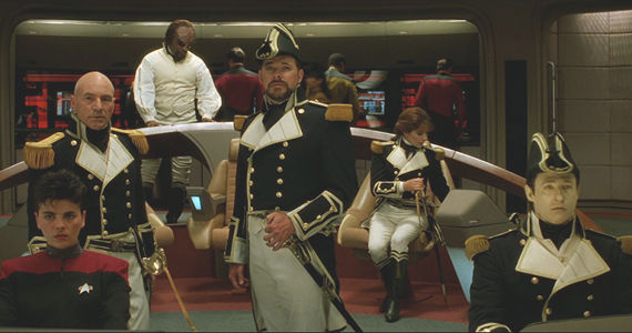 Star Trek Generations 18th Century Navy Holodeck Scene Starz Orders Ronald D. Moores Outlander TV Series