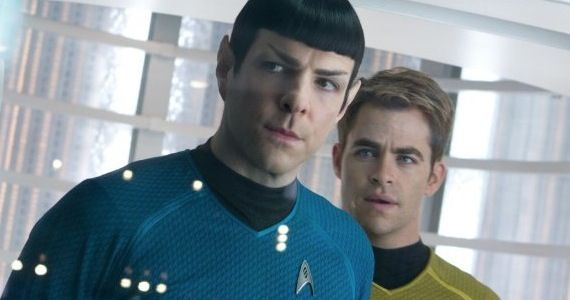 Star Trek Into Darkness Captain Kirk Commander Spock CBS Developing Apocalypse Drama from Star Trek Writers Kurtzman & Orci