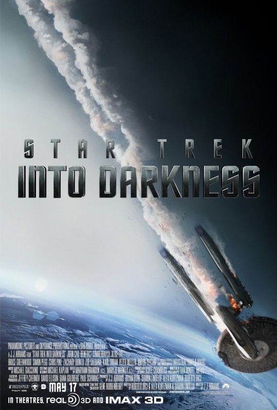Star Trek Into Darkness Enterprise Falling Poster 570x844 Star Trek Into Darkness Enterprise Falling Poster