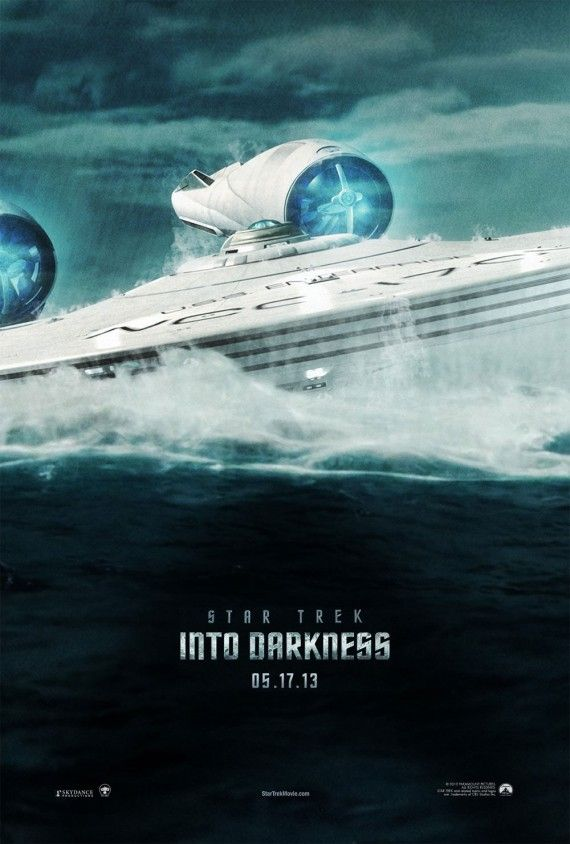 Star Trek Into Darkness Fan Poster 570x844 Damon Lindelof Talks Star Trek Into Darkness Spoilers & Honoring Canon