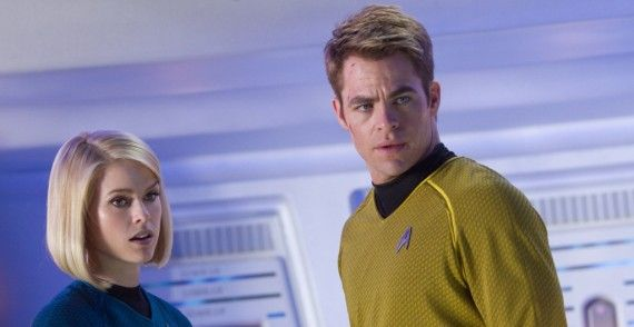 Star Trek Into Darkness Kirk and Carol Marcus 570x294 Star Trek Into Darkness Review